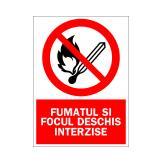 Fumatul si Focul Deschis Interzise