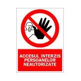 Accesul Interzis Persoanelor Neautorizate (Autoadeziv)