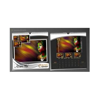 Calendar de perete personalizat integral PHOTO BOOK SQUARE 31x31